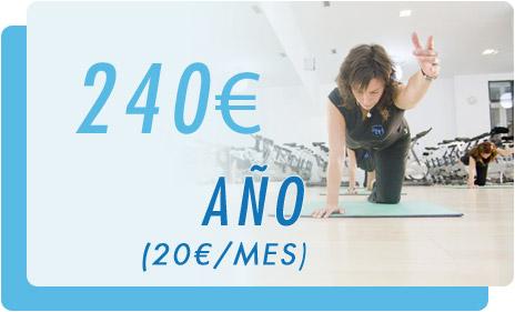 En gimnasio Do I! Tu año con nosotros cuesta 240 € (el mes te sale a 20 €)